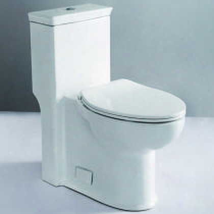 """Tb377 Ada Compliant One Piece Single Flush Toilet With Porcelain Symphonic Flush System Balanced Water Distribution Powerful And Efficient 3"""" Flushing Valve"""