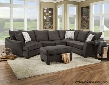 183840-4040-SEC-FS Campbell 3 PC Sectional with Toss Pillows Left Arm Facing Cuddler Armless Loveseat Right Arm Facing Corner Sofa and Fabric Upholstery in