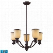66173-5-LED Brooksdale 5-Light Chandelier in -