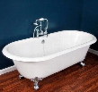 "DE-67-NH-ORB Cast Iron Double Ended Clawfoot Tub 67"" x 30"" with No Faucet Drillings and Oil Rubbed Bronze"