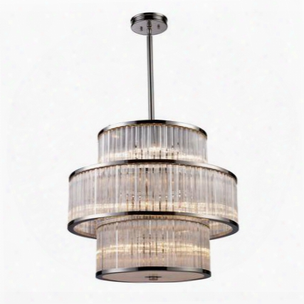 10130/5+5+5 Braxton 15-light Pendant In Polished
