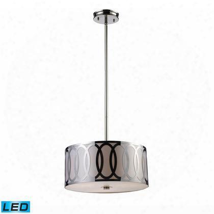 10173/3-led Anastasia 3-light Pendant In Polished Nickel -