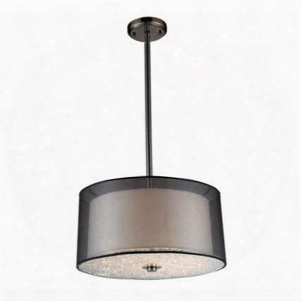 10313/3 3- Light Pendant In Black