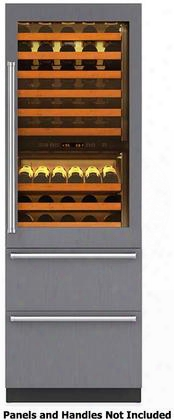 "427rhag-rh 27"" Integrated Wine Storage With Refrigerator Drawers 78 Bottle Capacity Uv-resisant High Altitude Glass Door Dual Evaporators And Dual"