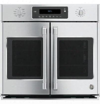 "Ct9070shss 30"" Single French Door Electric Wall Oven With Self-clean Heavy-duty Roller Rack Ten-pass Dual Broil Element And Ten-pass Bake Element In Stainless"