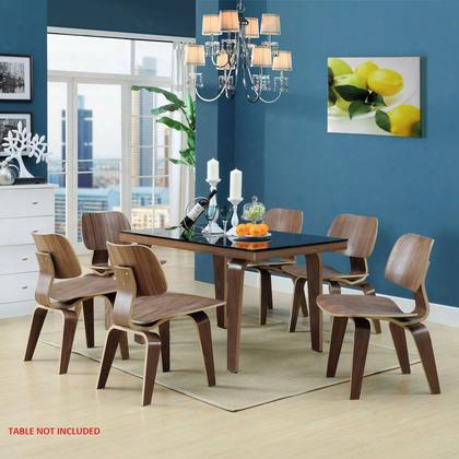 Eei-910-wal Fathom Dining Chairs Set Of 6 In Walnut
