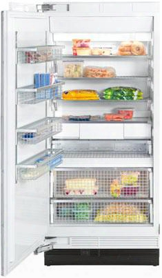 "F1913sf 36"" Single Door All Freezer With 18.8 Cu. Ft. Capacity Rapidcool Loading Functions Fullview Storage Drawers And Metal Freezer Basket5 With Left"