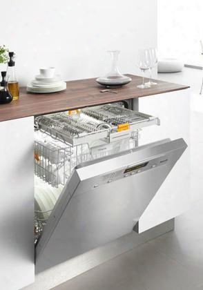 "G5605scss 24"" Full Console Dishwasher With 6 Wash Pprkgrams 3d Cutlery Tray 46 Dba Operation Built In Water Softener 16 Place Settings 46 Dba Quiet Rating"