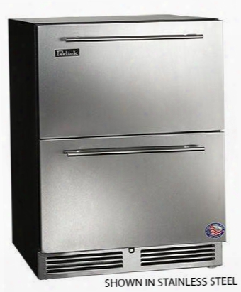 "Ha24fb-3-6 24"" Ada Compliant Built-in Drawer Freezer With Digital Control And Front-vented Rapidcool Forced-air Refrigeration System And Integrated Wood"