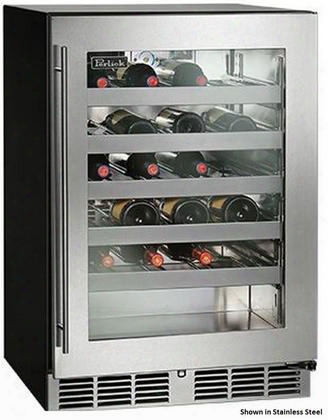 "Hc24wb-3-4r 24"" Indoor-use Built-in Wine Reserve With 40 Bottle Capacity Rapidcool Forced Air Refrigeration System And Stainless Steel Interior: Integrated"