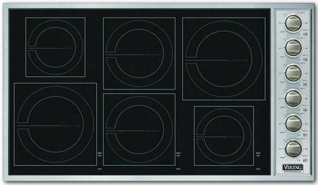 "Professional 5 Series Vicu2666bsb 36"" Induction Cooktop With 6 Magnequick Induction Elements 3 700 Watt Boost Push-to-turn Safety Feature And Glass Ceramic"
