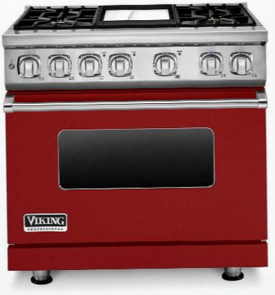 "Professional 7 Series Vdr7364gar 36"" Dual Fuel Sealed Burner Range With 4 Burners Ceramic Non-stic Griddle Surespark Ignition System And Infrared Broiler"