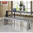 EEI-868 Gridiron Benches Set of 2 in Silver