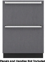 "ID-24R 24"" Energy Star Rated Refrigerator Drawers with 4 cu. ft. Capacity Soft-close Drawers Smart-touch Controls and LED Lighting in Panel"
