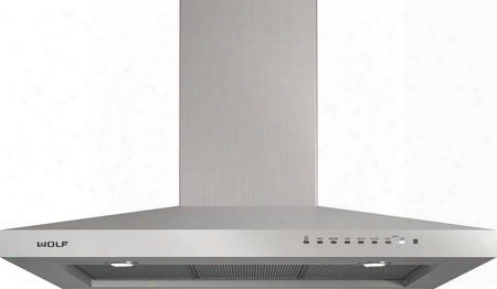 "Vw36s 36"" Wall Mounted Chimney Hood With Dishwasher-safe Filters Telescoping Chimney Front-mounted Electronic Controls And Led Lighting In Stainless"