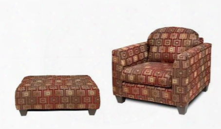 200chbro Suzzy Chair + Ottoman With 1.5 Density Dacron Wrapped Cushions Sew N Pillow Cushions Hardwood And Zippered Cushions In Brancusi