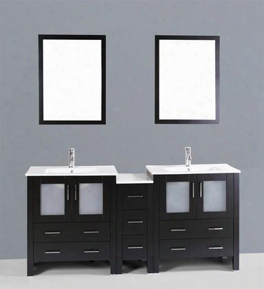72 Bosconi Ab230u1s Double Vanity In