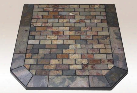 "Ap839 Tumbled Slate Collction Montana Flagstone 48"" X 48"" Corner Hearth"