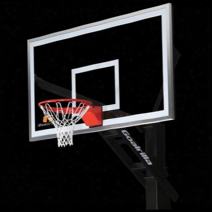 """B5000w Gs72c Basketball 72"""" Hoop With A Pre-assembled Pro-style Flex Rim And An Anchor Bolt Mounting"""