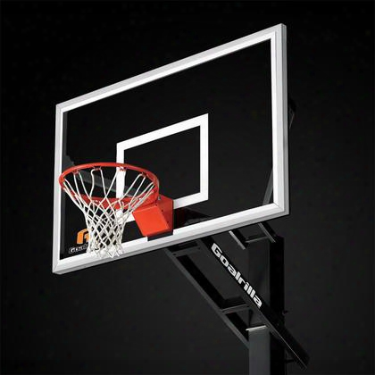 "B5002w Gs60c Basketball 60"" Hoop With A Pre-assembled Pro-style Flex Rim And An Anchor Bolt Mounting"