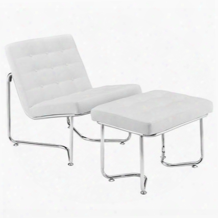 Eei-262-whi Gibraltar Lounge Chair In White