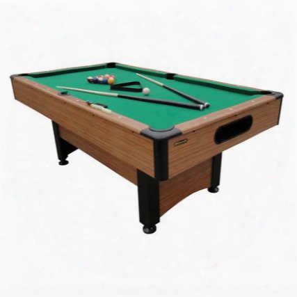 P1253w 6.5'dynasty Space-saver Green Billiard Table With Two Cues A Set Of Billiard Balls A Triangle And Two Chalk
