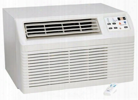 Pbe123g35cb Through-the-wall Air Conditioner With 12000 Btu Cooling Capacity 11000 Btu Electric Heating Remote Control Lcd Display 2-fan Speeds 4-way