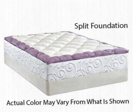 "Splendorkkmatset 13.5"" King Size Memory Foam Mattress + White Split Foundation With 300 Thread Count Cotton Duvet Cover And Airflow Pressure Relief Memory"