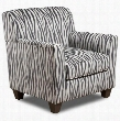 181001-8152-ZB Zaire Accent Chair - Zebra