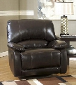"Capote Durablend 4450061 41"" Swivel Glider Recliner with Plush Padded Arms Thick Bustle Back Design and Jumbo Stitching in"