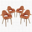 EEI-1330-ORA Aegis Dining Armchair Set of 4 in Orange
