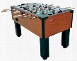 G01889W Gladiator Traditional Foosball Table with Integrated Cup Holders Solid Wood Slide Scoring and 4