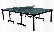 "T8288 INSTA-PLAY Foldable InstaPlay Technology Table-Tennis Table with Ball Bearing Casters STIGA 66"" Net and"