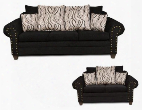 293575sl Amanda Sofa + Loveseat With Jazzy Granite Toss Pillows Solid Kiln Dried Hardwoods Zippered Cushions No Sag Steel Springs And Sewn Pillows In Delray