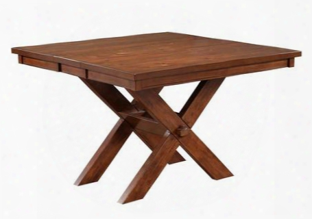 713441  Kraven Gathering Table With Acacia And Rubberwood (ships In 2 Cartons)in Dark Hazelnut