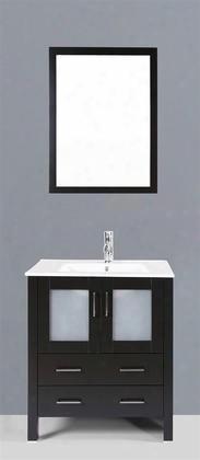 """Ab130u 30"""" Single Vanity In Espresso With Ceramic"""