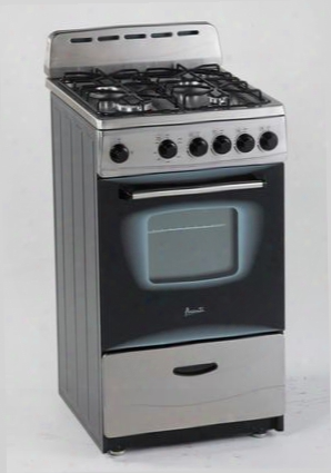 "Gr2013css 20"" Gas Range With 2.1 Cu. Ft. Capacity Ada Compliant Gas Range With 4 Sealed Type Burners Automatic Electronic Ignition Oven Cavity Light And"