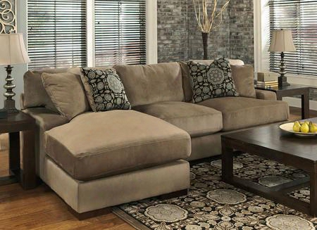 Grenada 85904-56-16 2-piece Sectional With Right Arm Loveseat Left Arm Corner Chaise 4 Toss Pillows And Set-back Track Arms In