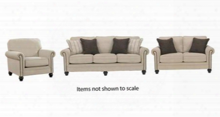 Milari Collection 13000slc 3-piece Living Room Set With Sofa Loveseat And Living Room Chair In