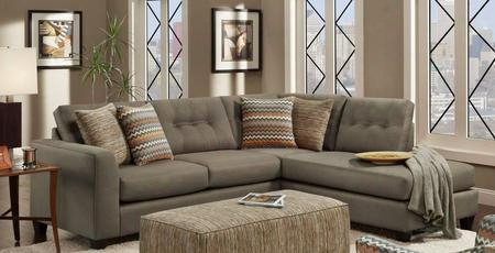 Phoenix Fs15156-fm 2 Pc Sectional Sofa With Left Arm Facing Sofa Right Arm Facing Chaise And Toss Pillows In Fandango