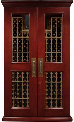 "Vino-sonoma700l Sonoma Lux Series 55"" Wine Cabinet With 464 Bottle Capacity Wine-mate Cooling System Redwood Racks Cornice/base And Digital Temperature"