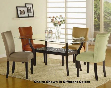 101491cset5 Bloomfield 5 Pc Rectangle Dining Set (table And 4 Side Chairs With Chocolate Ochre