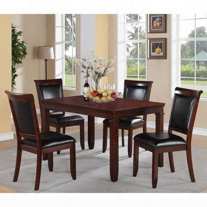 12202 Dallas Dining Room Set 1 Table And 4 Chairs In Cherry