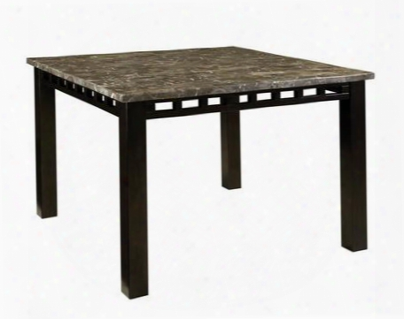 18271 Gateway Counter Height Table With Grey Marble Top In Dark Chicory Brown Stain