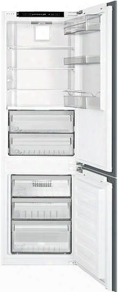 "Cb300u 24"" Energy Star Fully Integrated Bottom Freezer Refrigerator In 8.4 Cu. Ft. Capacity Glass Shelves Led Lighting Bio Fresh Comparment And Electronic"