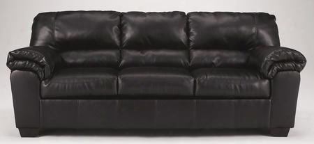 "Commando Collection 6450038 90"" Sofa With Faux Leather Upholstery Plush Padded Arms Split Back Cushion And Contemporary Style In"