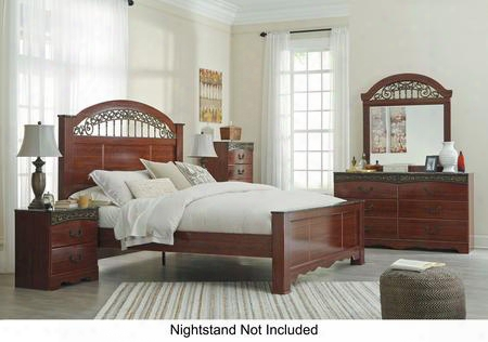 Fairbrooks Estate King Bedroom Set With Panel Bed Dresser Mirror And Chest In