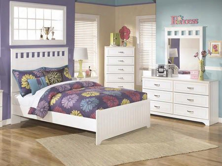Lulu Full Bedroom Set With Panel Bed Dresser Mirror And Chest In