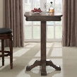 100533GLA Sarsetta Series Pub Table with Footed Pedestal Oak Veneer Top Rubberwood Base and Square Shaped Top: