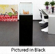 "BB-CW 50"" Freestanding Bio Ethanol Column Fireplace with 1 Adjustable Burner 9553 BTU Heat Capacity 4 Casters 4 Heat Resistant Glasses Extinguish Tool and"